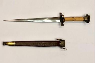 Stilleto dagger forged by hand  in...