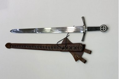 Medieval sword forged by hand in...