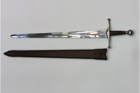 Medieval Templar sword forged by hand in carbon steel