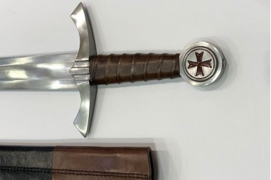 Medieval Templar sword forged by hand...