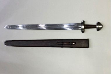 Viking sword forged by hand in carbon...