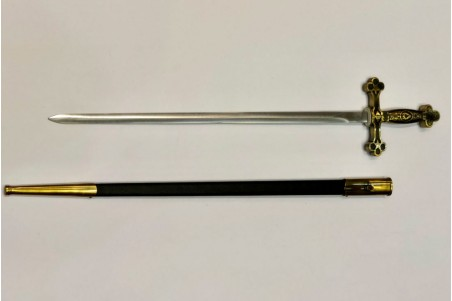 Masonic sword forged by hand in carbon steel