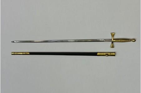 Espadín siglo XIX forjado a mano en acero de carbono