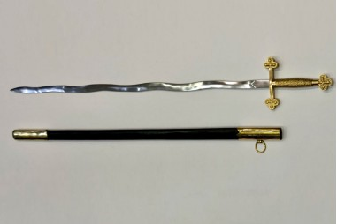 Flaming sword in carbon steel forged...