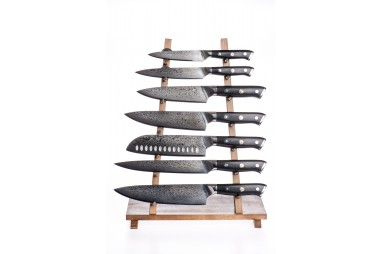 Complete set of knives in high-end...
